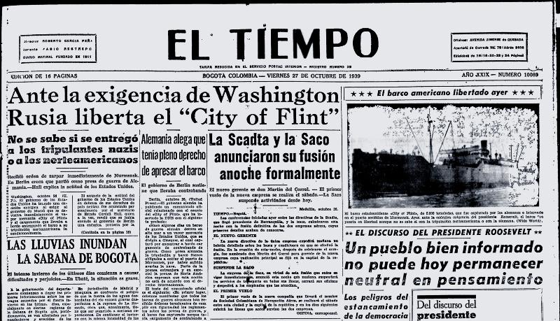 26 Octubre 1939 Fusión SCADTA - SACO