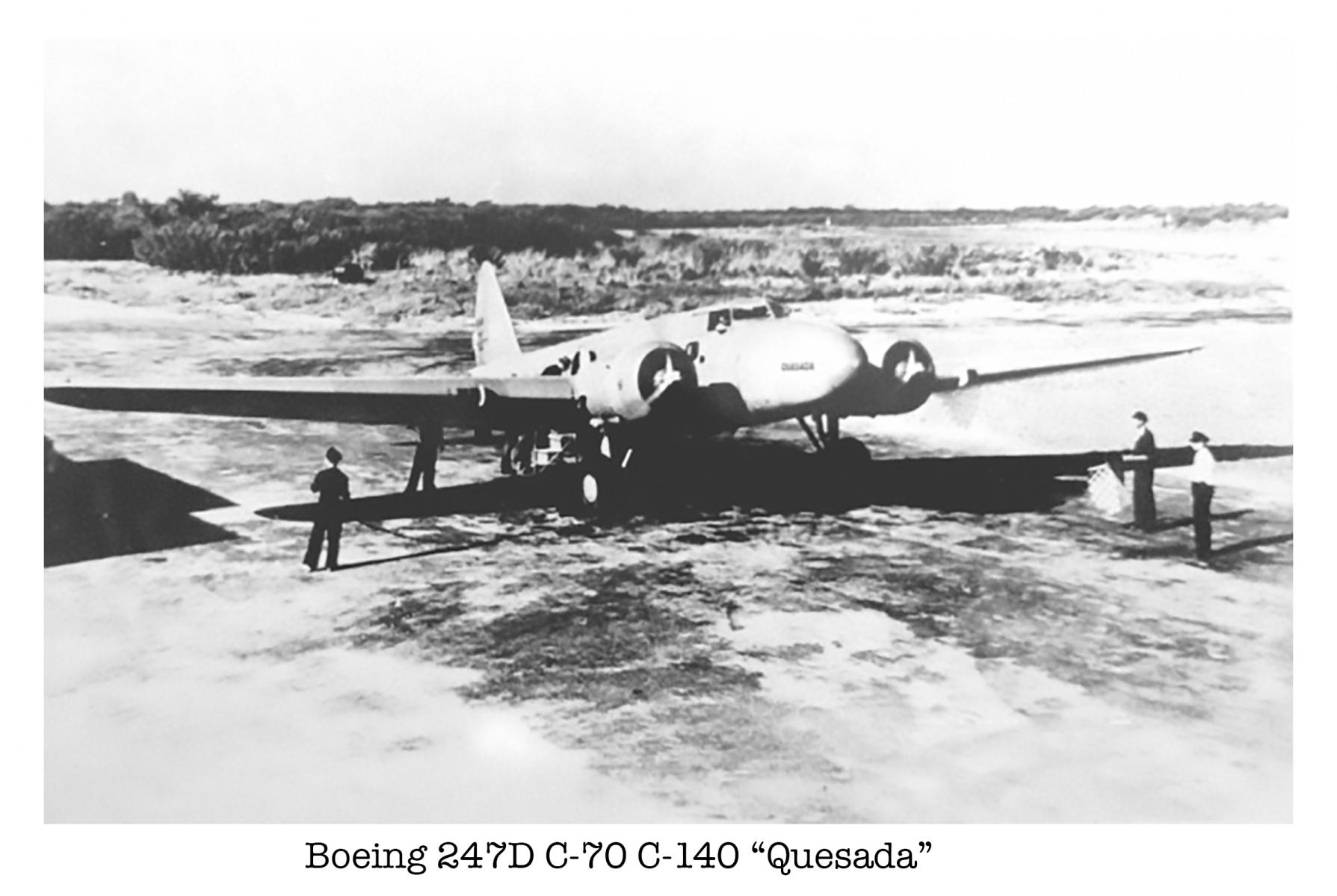 Boeing 247D C-70, C-140  'Quesada'
