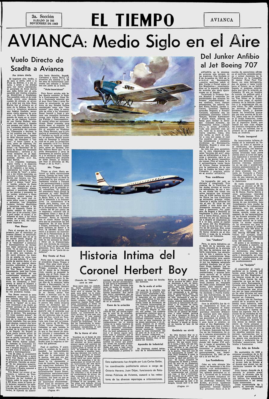 50 Aniversario Scadta-Avianca 1969 Pág. 1