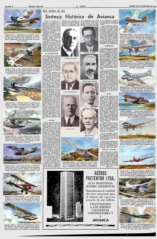 50 Aniversario Scadta-Avianca 1969 Pág. 2